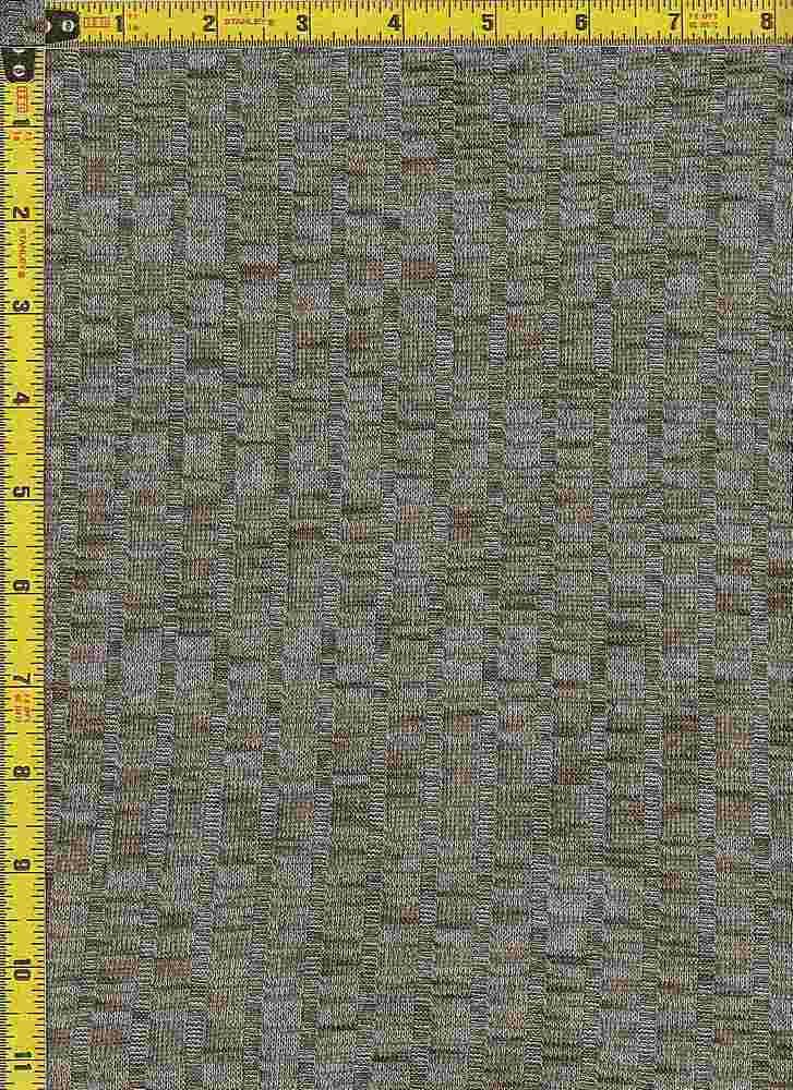 BP70017 / DK OLIVE/WHITE / 9X4 KNIT RIB  52 RAYON SLUB/45P/3SP