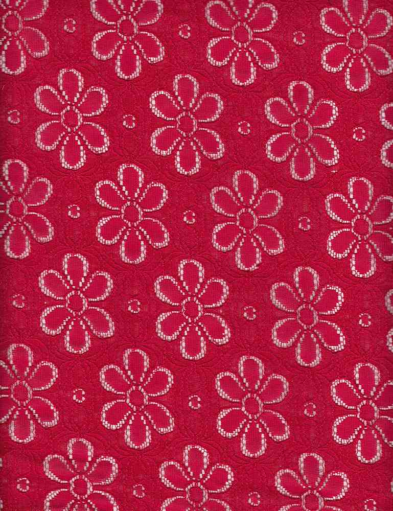 BT80040 / MCL RED / MARGARITA COTTON LACE [2604] 60C/40N 185GSM