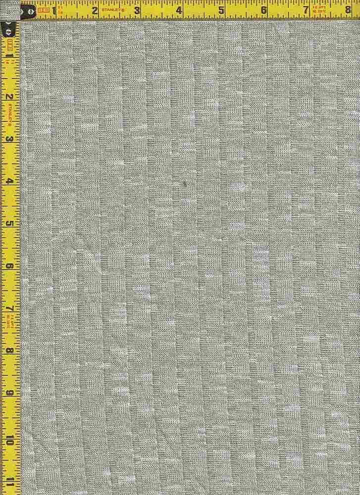 BP70017 / H.GRAY/WHITE / 9X4 KNIT RIB 52 RAYON SLUB/45P/3SP