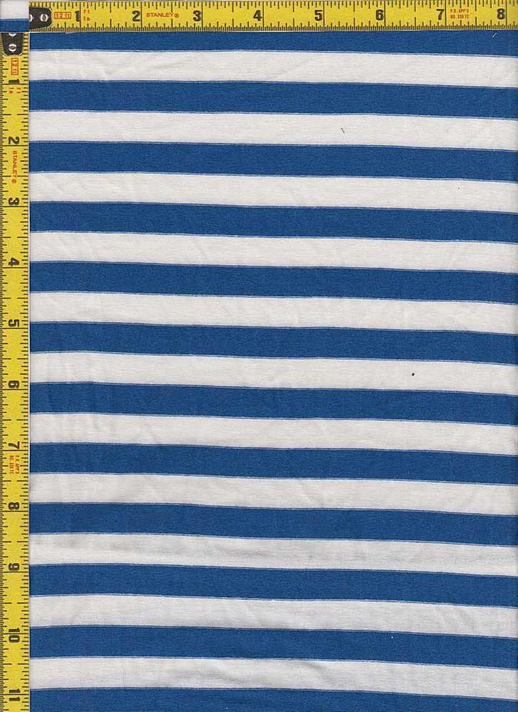 "BP70048 / IVORY/CLASSIC BLUE / BP70048 RS STRIPES 55 [1/2"" X 1/2""]"
