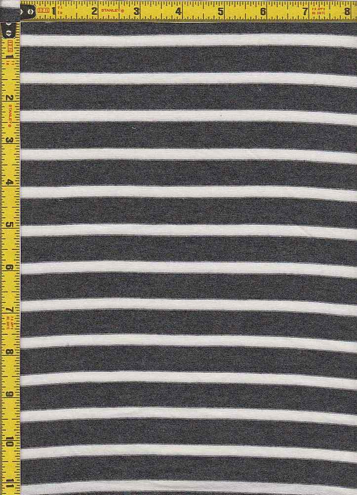"BP70054 / CHARCOAL/IVORY / RS STRIPES 5/8"" X 1/4"""