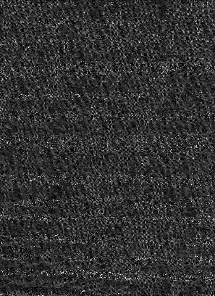 BP70092 / BLACK / KNIT GAUGE WITH FOIL [HACCI SWEATER FOILING]