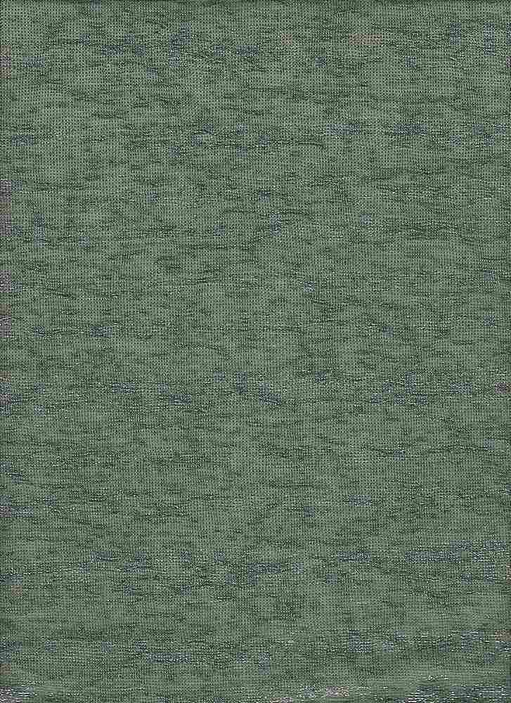 BP70092 / MILITARY GREEN / KNIT GAUGE WITH FOIL [HACCI SWEATER FOILING]