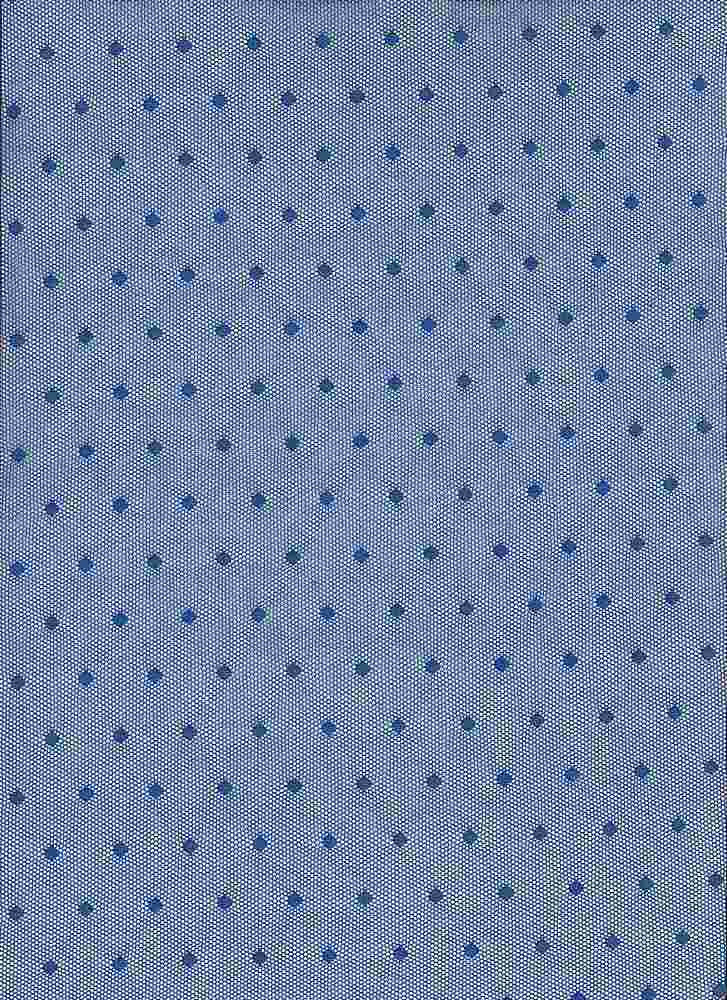 BP70082 / ROYAL BLUE / NYLON MESH POLKA DOT